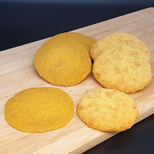 Afbeelding van Roomboter koekjes 1/2 willhelmien 1/2 Nogatienes +/- 250 gr