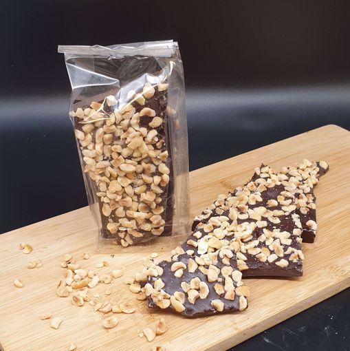 Afbeelding van Breekchocolade met hazelnoten puur