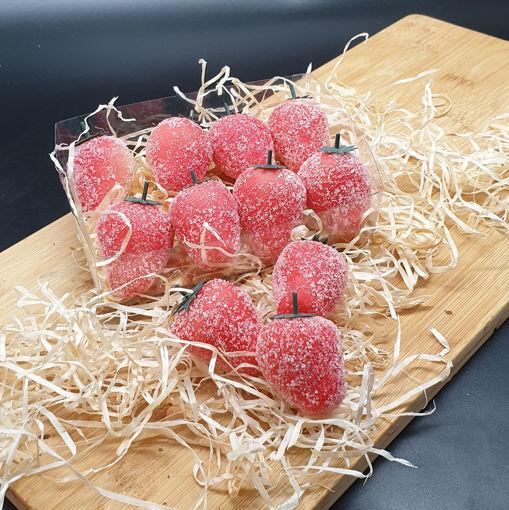 Afbeelding van Doosje Marsepein Aardbeien 200 gram