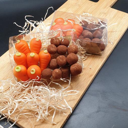 Afbeelding van Doosje Marsepein aardappeltjes en worteltjes 200 gram